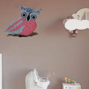 hibou en quilling decoration mural en animal en papier roule idealisa
