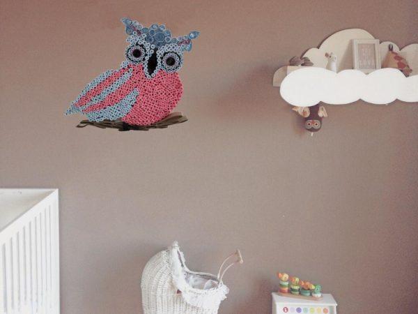 hibou en quilling decoration mural en animal en papier roule idealisa