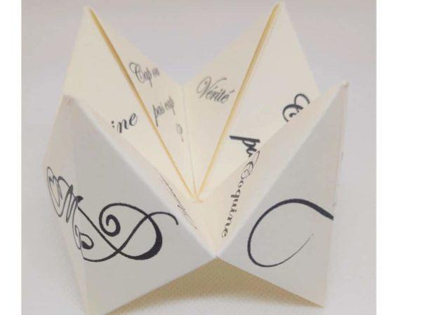 cocotte en papier d animation ou demande en mariage