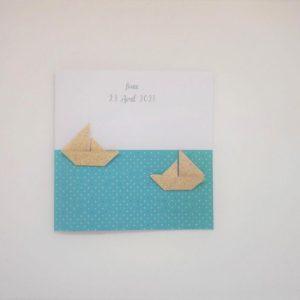 faire part bateaux origami en relief par idealisa.