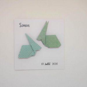 faire part lapin origami en relief par idealisa.