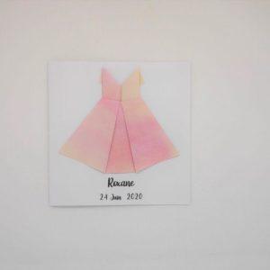 faire part robe origami faire part de naissance en relief par idealisa