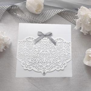 faire part dentelle blanc et gris invitation mariage papier dentele idealisa