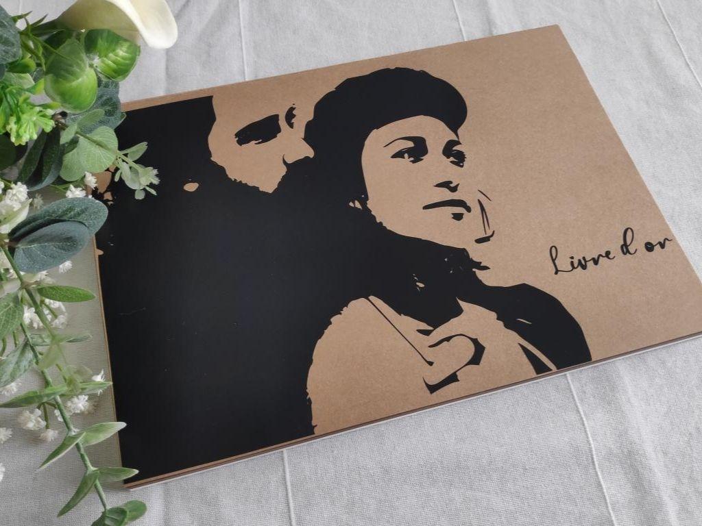 livre d or portrait de couple canva