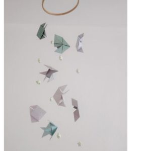 mobile bebe poissons origami