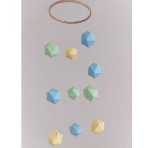 mobile bebe diamant en origami