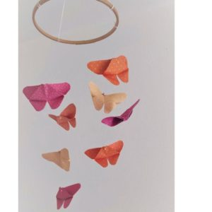 mobile bebe papillons origami