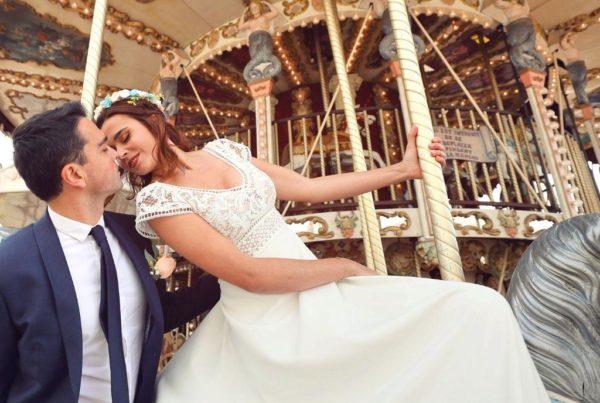 maries sur un carrousel