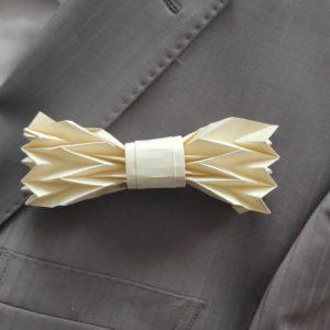 noeud de papillon origami ivoire