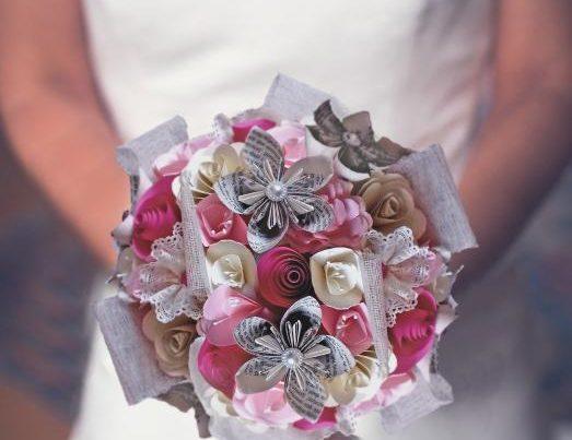 article de blog - bouquet de mariee origami douceur